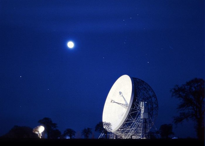 Lovell Radio Telescope Greeting Card featuring the photograph Jodrell Bank Observatory by Richard Kail