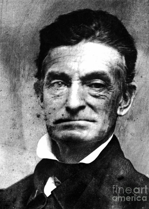 1856 Greeting Card featuring the photograph John Brown (1800-1859) by Granger