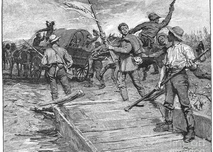 1855 Greeting Card featuring the photograph Kansas: Border Ruffians by Granger