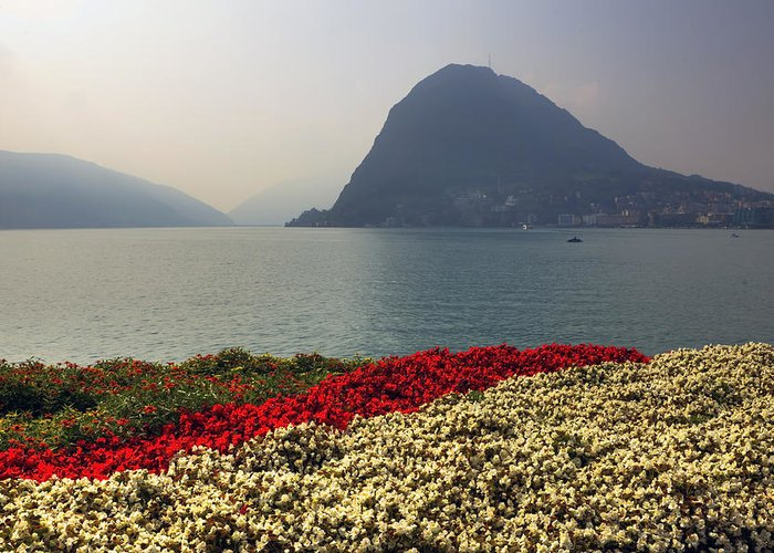 Monte Salvatore Greeting Card featuring the photograph Lake Lugano - Monte Salvatore by Joana Kruse