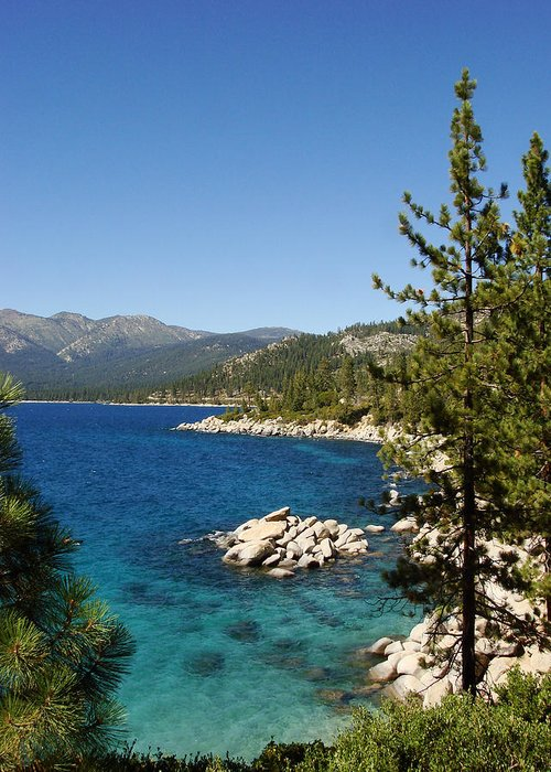 Lake Tahoe Greeting Card featuring the photograph Lake Tahoe Shoreline by Scott McGuire
