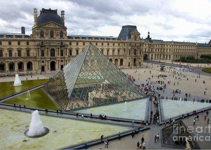 Paris Greeting Card featuring the photograph Louvre Museum. Paris by Bernard Jaubert