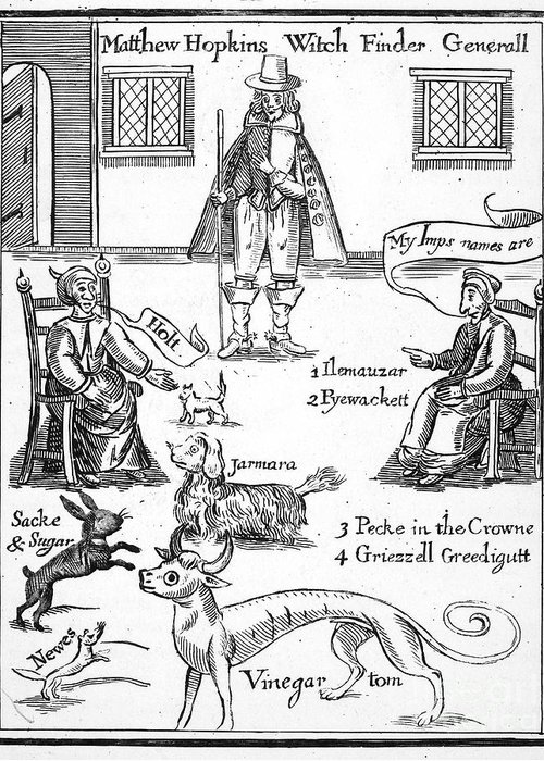 1647 Greeting Card featuring the photograph Matthew Hopkins (d. 1647) by Granger