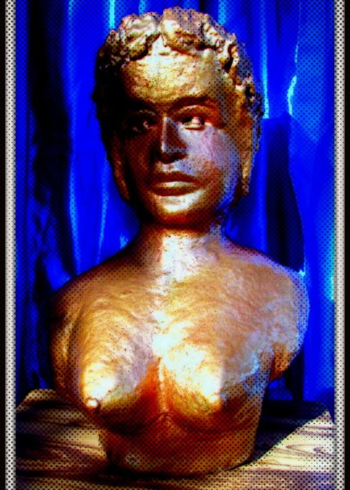 Sculptures Greeting Card featuring the sculpture My Model by Anand Swaroop Manchiraju