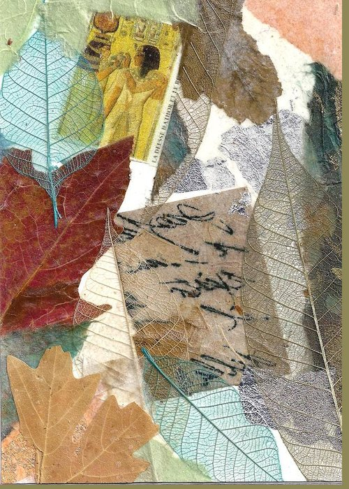 Nature Greeting Card featuring the mixed media Note From Nature by Phillip Jaeger