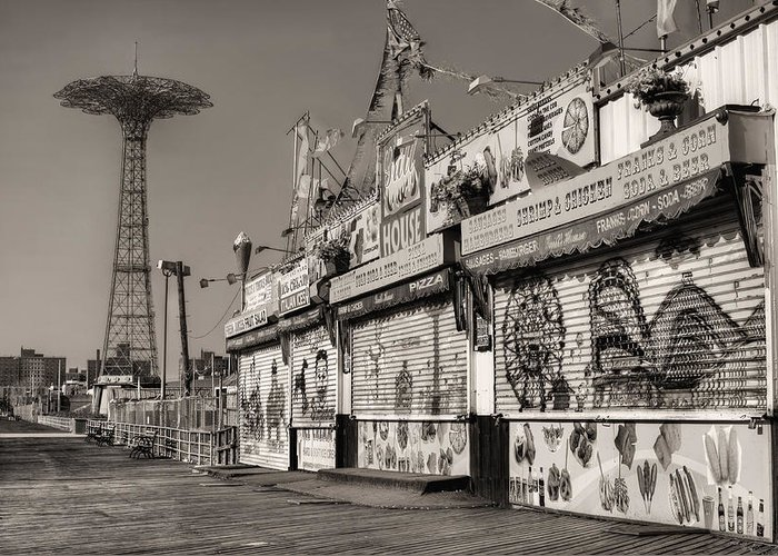 Coney Island Greeting Card featuring the photograph Off Season by JC Findley