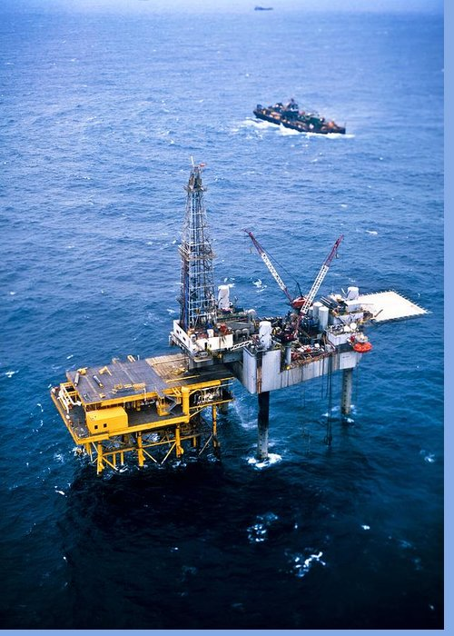 Equipment Greeting Card featuring the photograph Oil Platform by Arno Massee