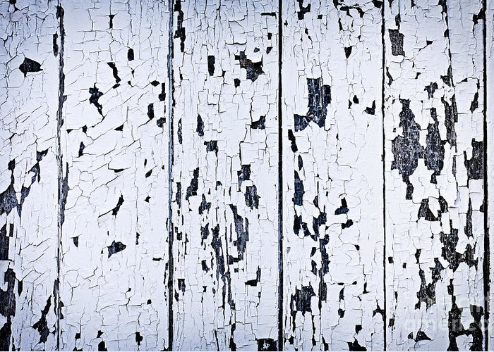 Old Greeting Card featuring the photograph Old Painted Wood Abstract by Elena Elisseeva