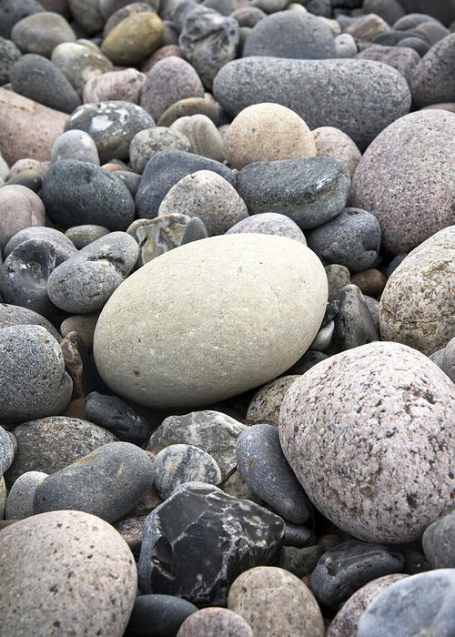 Pebbles Greeting Card featuring the photograph Pebbles by Frank Tschakert