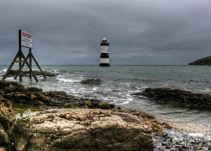 Anglesey Greeting Card featuring the photograph Penmon Point by Adrian Evans