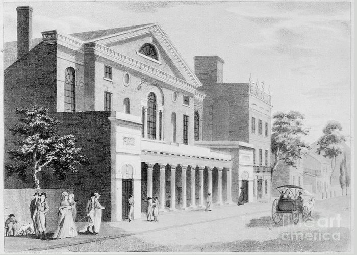 1800 Greeting Card featuring the photograph Philadelphia: Theater by Granger