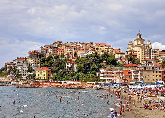 Imperia Porto Maurizio Greeting Card featuring the photograph Porto Maurizio - Liguria by Joana Kruse