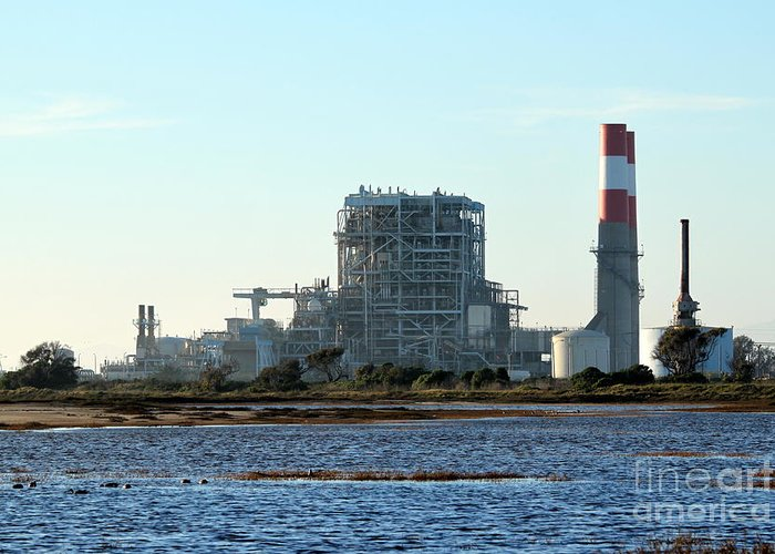 Industry Greeting Card featuring the photograph Power Station by Henrik Lehnerer