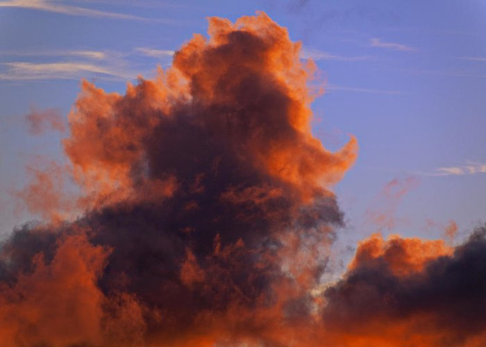 Red Greeting Card featuring the photograph Red Clouds by Garry Gay