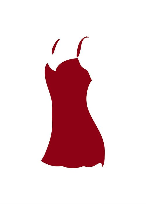 Fashion Greeting Card featuring the painting Red Dress by Frank Tschakert