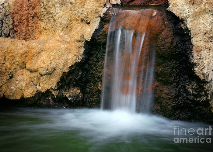 Autumn Greeting Card featuring the photograph Red Waterfall by Carlos Caetano