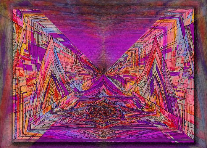 Abstract Greeting Card featuring the digital art Rumblings Within by Tim Allen