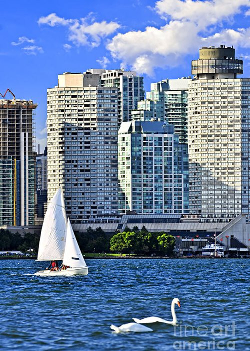 Toronto Greeting Card featuring the photograph Sailing In Toronto Harbor by Elena Elisseeva