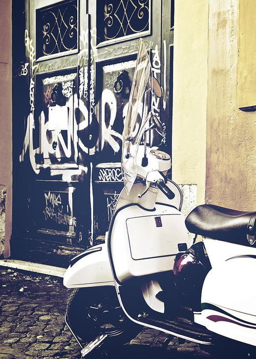 Rome Greeting Card featuring the photograph Scooter by Joana Kruse