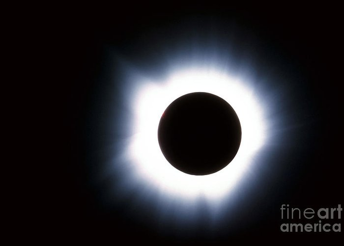Color Image Greeting Card featuring the photograph Solar Eclipse by Stocktrek Images