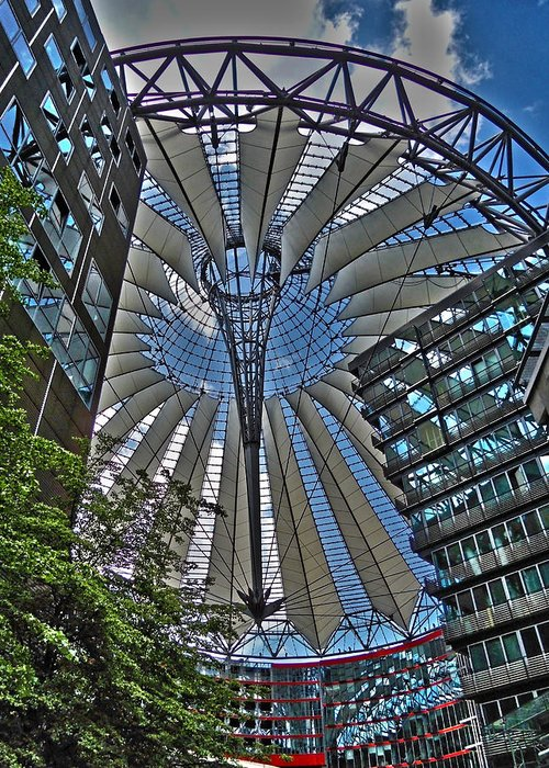 Europe Greeting Card featuring the photograph Sony Center - Berlin by Juergen Weiss