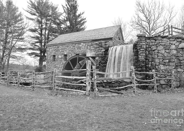 Sudbury Massachusetts Greeting Card featuring the photograph Sudbury Grist Mill by Catherine Reusch Daley