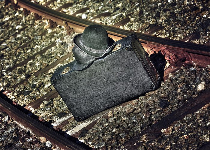 Hat Greeting Card featuring the photograph Suitcase And Hats by Joana Kruse