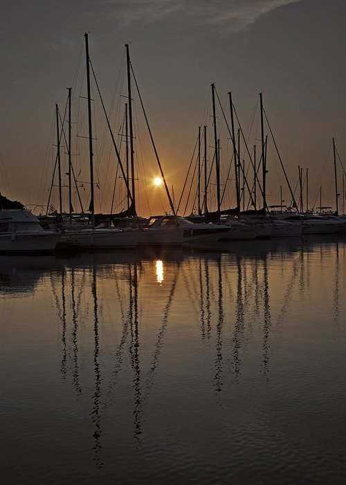 Boats Greeting Card featuring the photograph Sunset by Joana Kruse