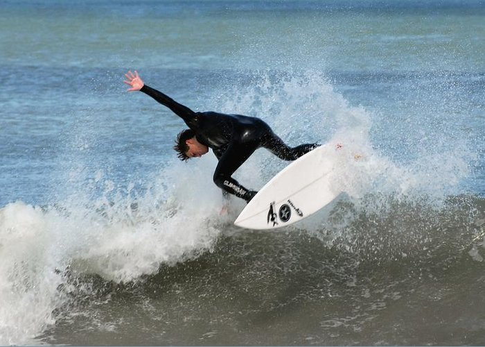 Surfer Art Greeting Card featuring the photograph Surfing 395 by Joyce StJames