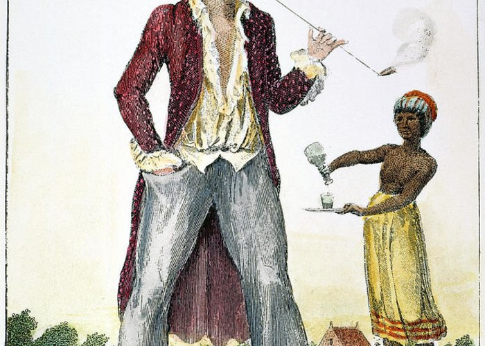 1796 Greeting Card featuring the photograph Surinam: Slave Owner, 1796 by Granger
