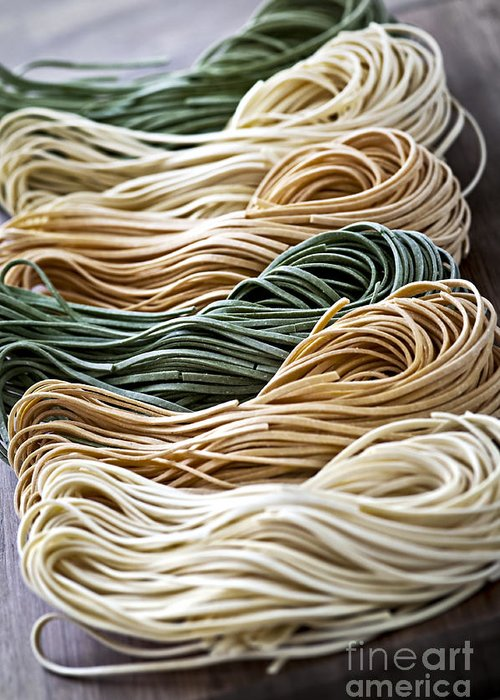 Tagliolini Greeting Card featuring the photograph Tagliolini Pasta by Elena Elisseeva