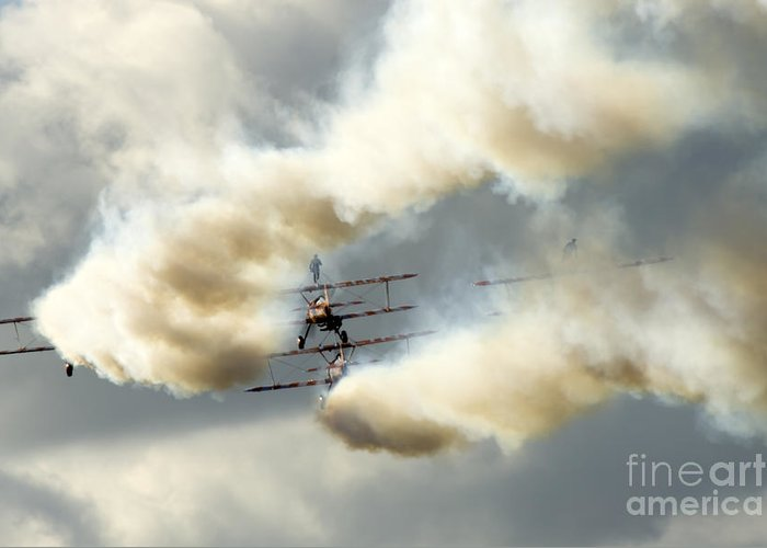 Airshow Greeting Card featuring the photograph The Ballet Under The Skies by Angel Tarantella
