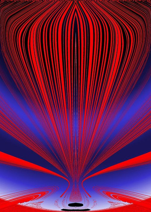 Abstract Greeting Card featuring the digital art Up Up And Away by Tim Allen