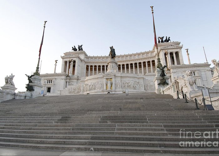 Vittorio Greeting Card featuring the photograph Vittoriano Monument To Victor Emmanuel II. Rome by Bernard Jaubert