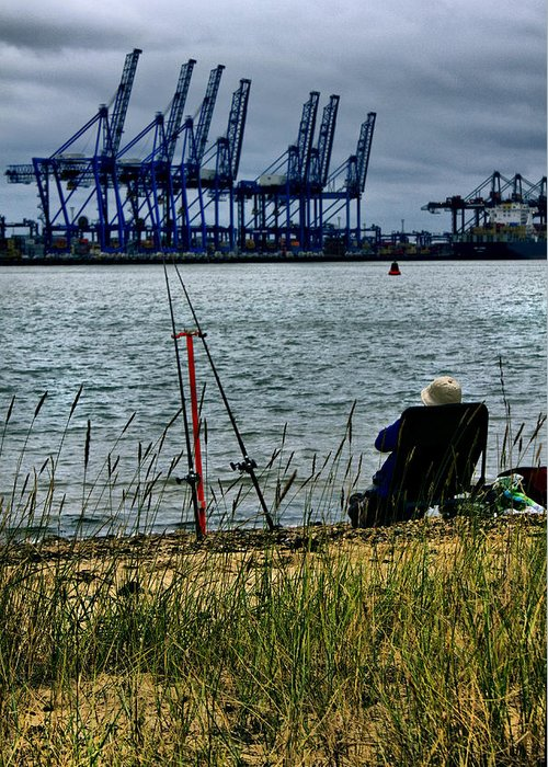 Dock Greeting Card featuring the photograph Watching The World Go By by Darren Burroughs
