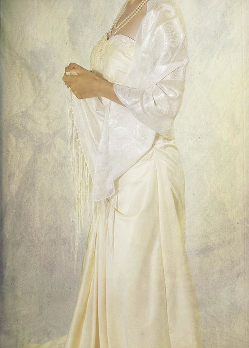 Female Greeting Card featuring the photograph Wedding Dress by Joana Kruse