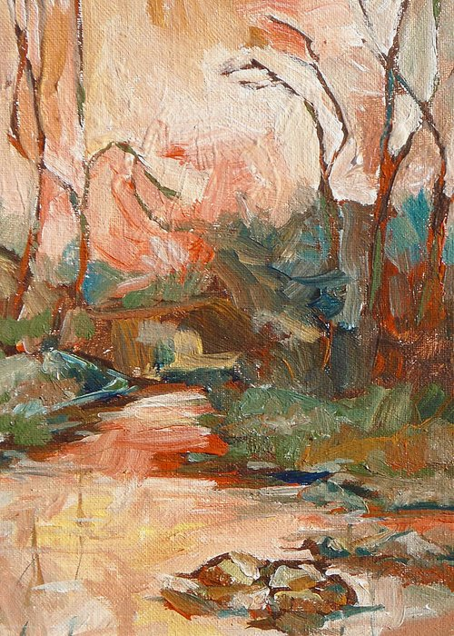 Sedona Greeting Card featuring the painting West Fork 2 by Sandy Tracey