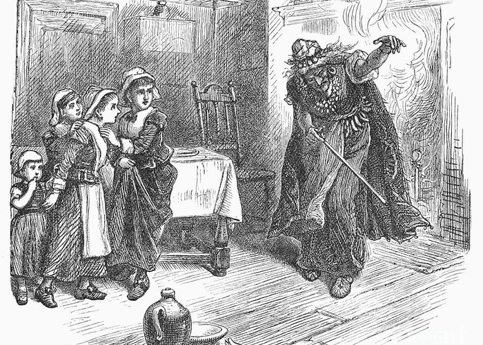 1692 Greeting Card featuring the photograph Witch Trial: Tituba, 1692 by Granger