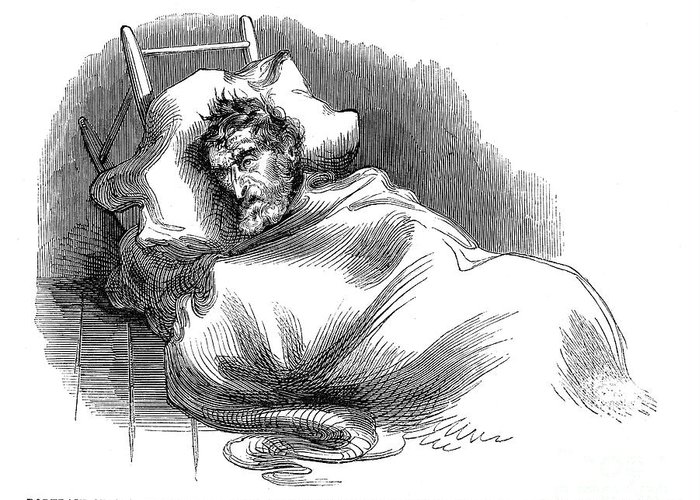 1859 Greeting Card featuring the photograph Wounded John Brown, 1859 by Granger