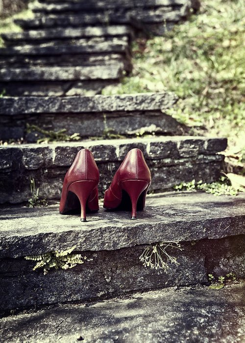 Shoes Greeting Card featuring the photograph Pumps by Joana Kruse
