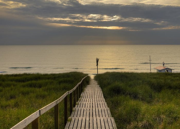 Boardwalk Greeting Card featuring the photograph Sylt by Joana Kruse