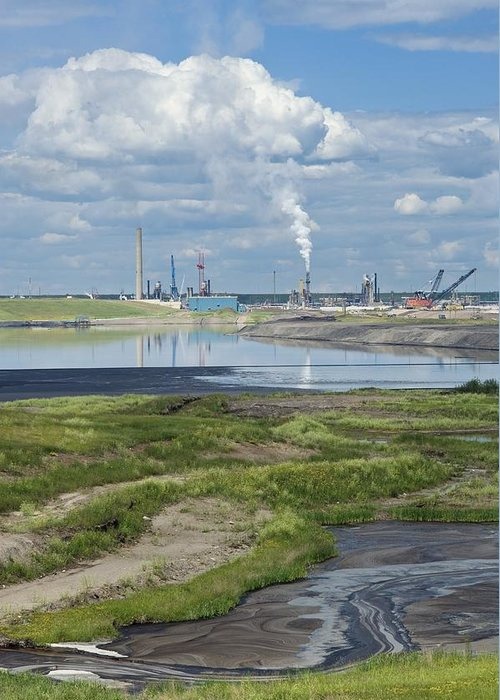 Pollution Greeting Card featuring the photograph Oil Industry Pollution by David Nunuk
