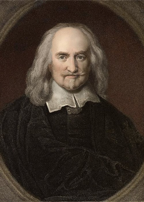 Atheist Greeting Card featuring the photograph 1660 Thomas Hobbes English Philosopher by Paul D Stewart