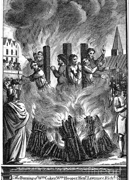 16th Century Greeting Card featuring the photograph Foxe: Book Of Martyrs by Granger