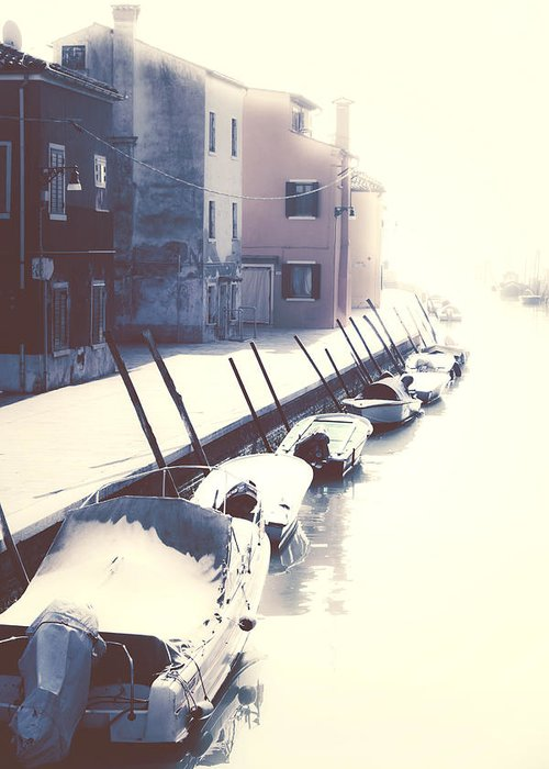 Boats Greeting Card featuring the photograph Burano by Joana Kruse