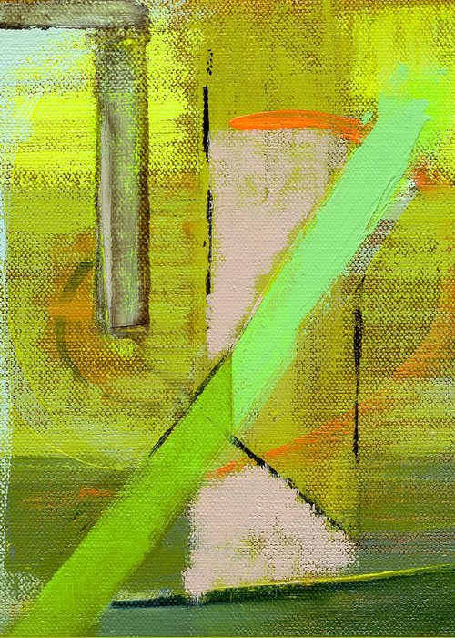 Abstract Greeting Card featuring the painting Rcnpaintings.com by Chris N Rohrbach