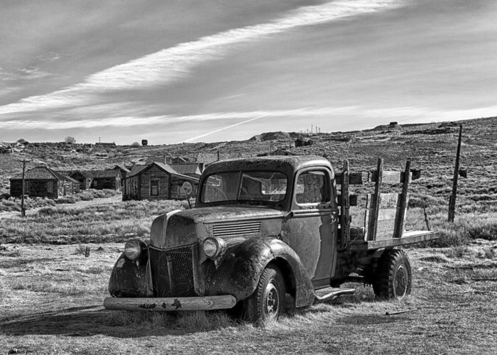 1939 Greeting Card featuring the photograph 1939 Ford Truck Bodie Ca by Troy Montemayor
