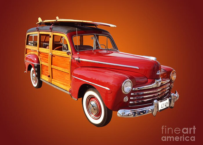 Car Greeting Card featuring the photograph 1947 Woody by Jim Carrell