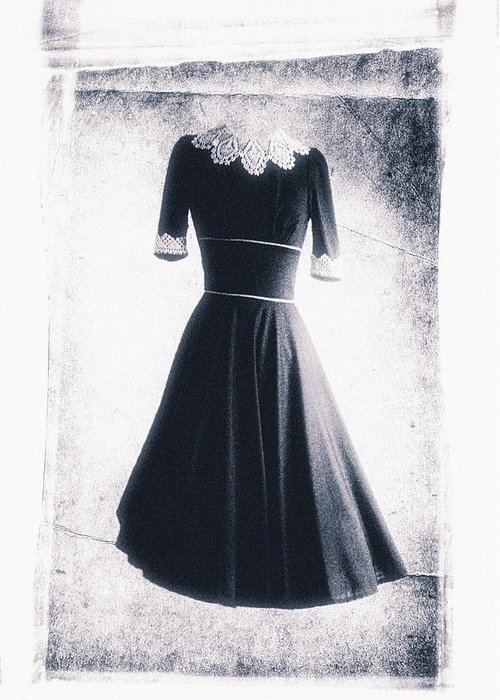 Dress Greeting Card featuring the photograph 1950s Dress by David Ridley