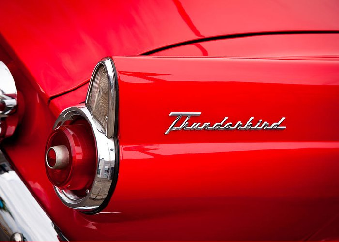 55 Greeting Card featuring the photograph 1955 Ford Thunderbird by David Patterson